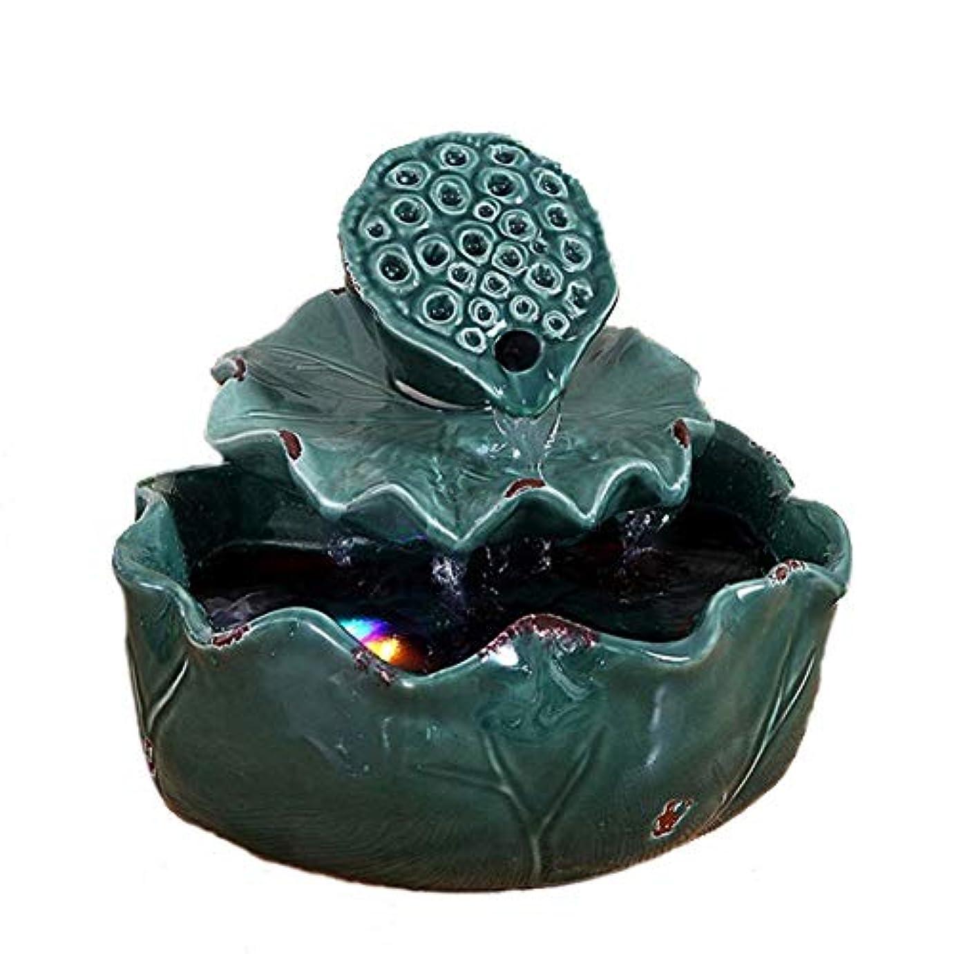 金銭的緑石炭空気加湿器クリエイティブロータス卓上装飾装飾セラミック工芸絶妙なギフト