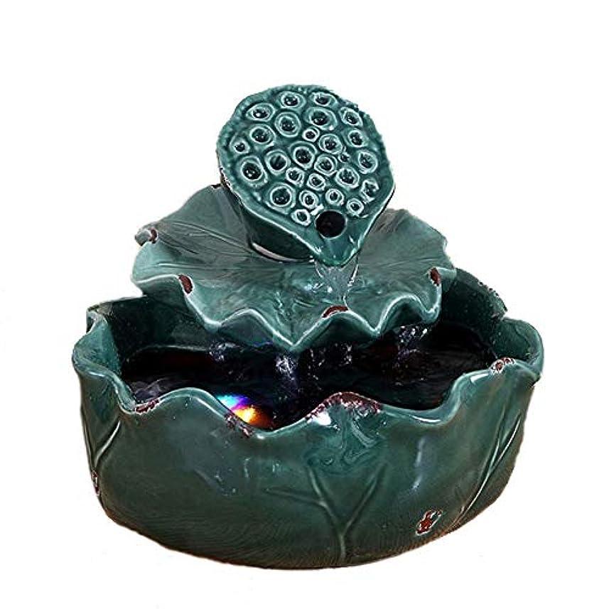 倒錯公荒れ地空気加湿器クリエイティブロータス卓上装飾装飾セラミック工芸絶妙なギフト