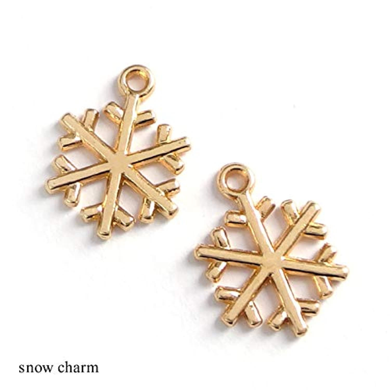 Craft Tamago 【10個】金属チャーム 雪の結晶 チャームパーツ 20*15
