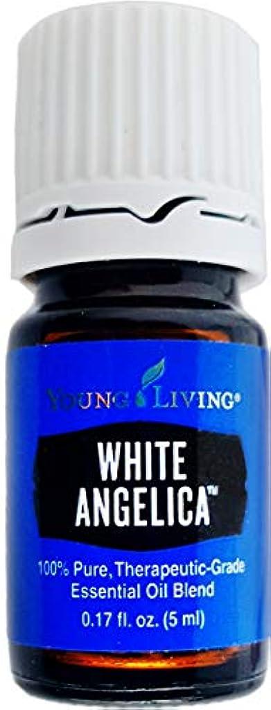 子羊買収うまれたYoung Living ホワイトアンジェリカ5ミリリットルエッセンシャルオイルエッセンシャルオイル
