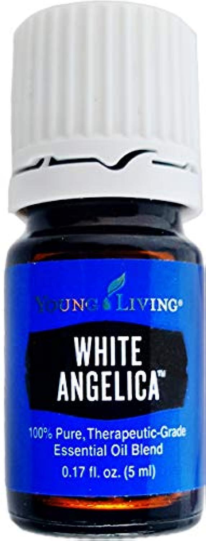 悲鳴エンディング米国Young Living ホワイトアンジェリカ5ミリリットルエッセンシャルオイルエッセンシャルオイル