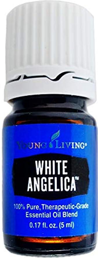 ブロックするスプーン鉄Young Living ホワイトアンジェリカ5ミリリットルエッセンシャルオイルエッセンシャルオイル