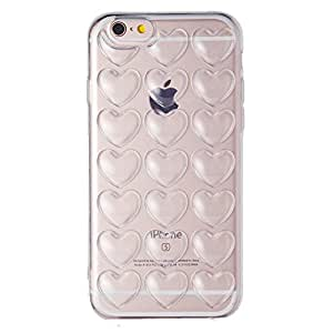 【CINC SHOP】プチプチ ハート TPU ネックストラップ付き iPhoneケース (iPhone6/6s, クリアー)