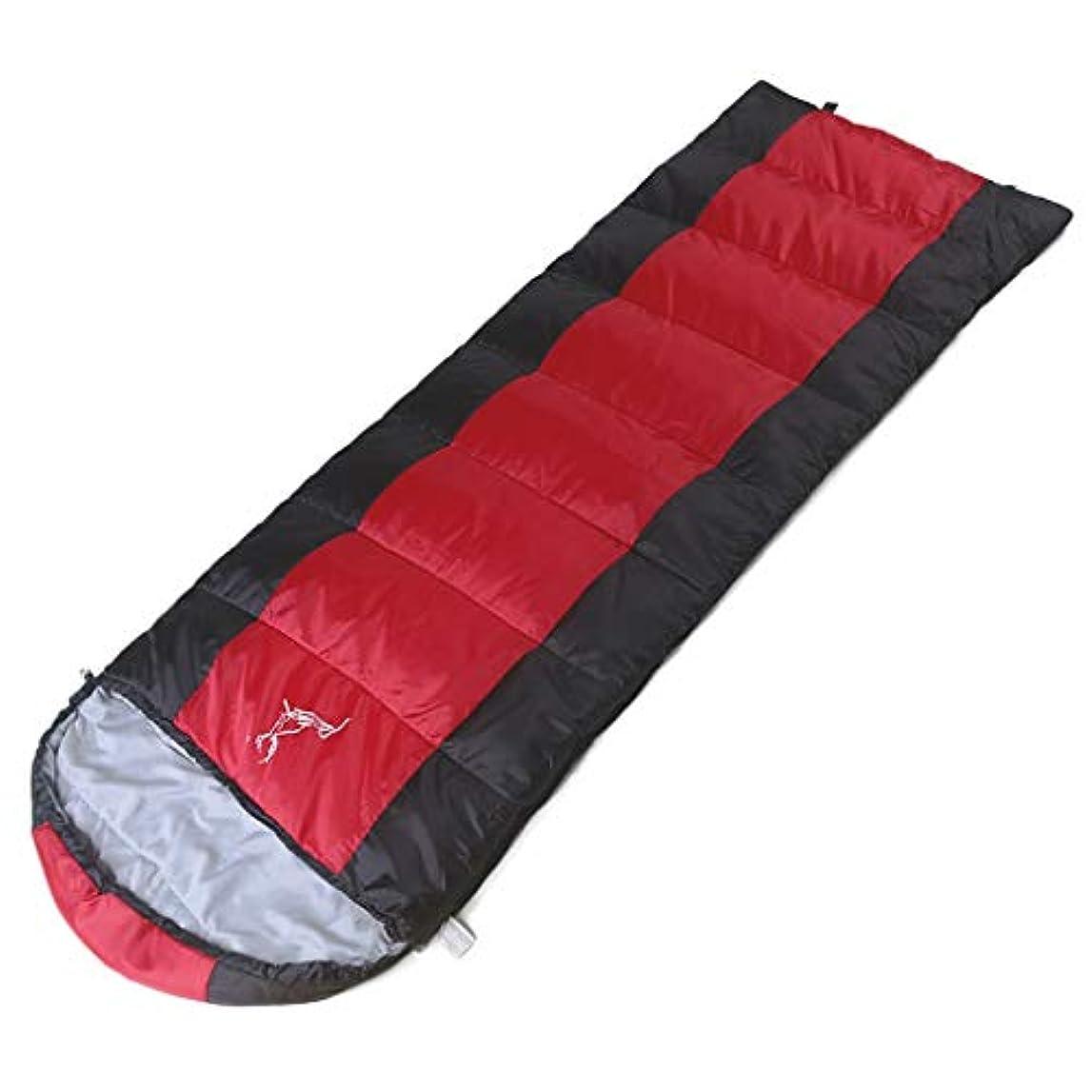 社会注入飲食店CATRP 携帯用寝袋の大人の屋外のキャンプの綿旅行、4季節 (色 : 赤)