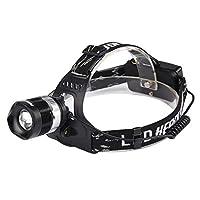 ハイパワーズームヘッドライト、屋外照明ロングレンジヘッドライト、充電ヘッドライトを装着した強力なヘッドライトの充電