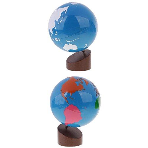 SONONIA モンテッソーリ 地理資料  地球 サンドペーパー 地球儀 グローブ 子供 おもちゃ