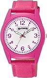 [シチズン Q&Q] 腕時計 アナログ OUTDOOR PRODUCTS 防水 ナイロン 革ベルト VS46-010 レディース ピンク