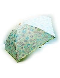 KitagawaSyouten[キタガワショウテン] 晴雨兼用傘 レディース 日傘 雨傘折畳傘 婦人 UVカット 綿混 レッド