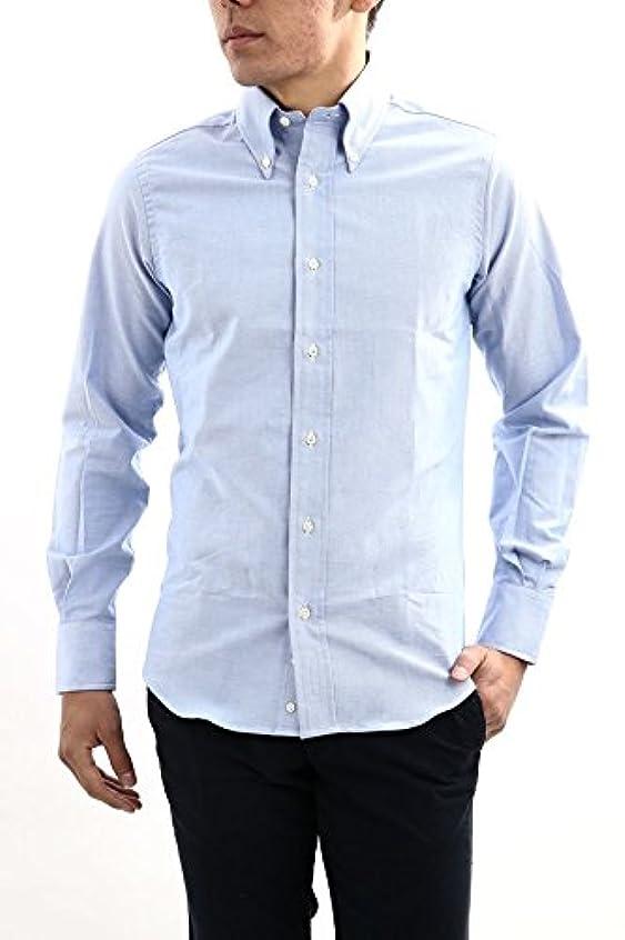 圧縮するシンジケートしてはいけませんINDIVIDUALIZED SHIRTS (インディビジュアライズドシャツ) SLIM FIT CAMBRIDGE OXFORD ボタンダウン オックスフォードシャツ BLUE (ブルー) MADE IN USA (アメリカ製)
