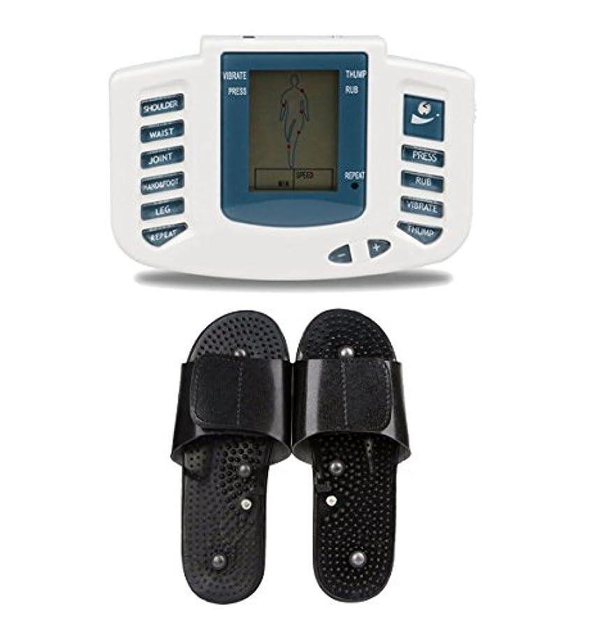 誕生日前進前文UniSign tens machine 電子パルス 電気低周波治療器 電気tens 低周波治療器 リラックス 痛み緩和 スリッパ付き 16つパッド 10レベル