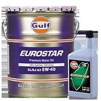 ガルフ【Gulf】 エンジンオイル EUROSTAR 5W-40 1L X 6本セット 100%合成