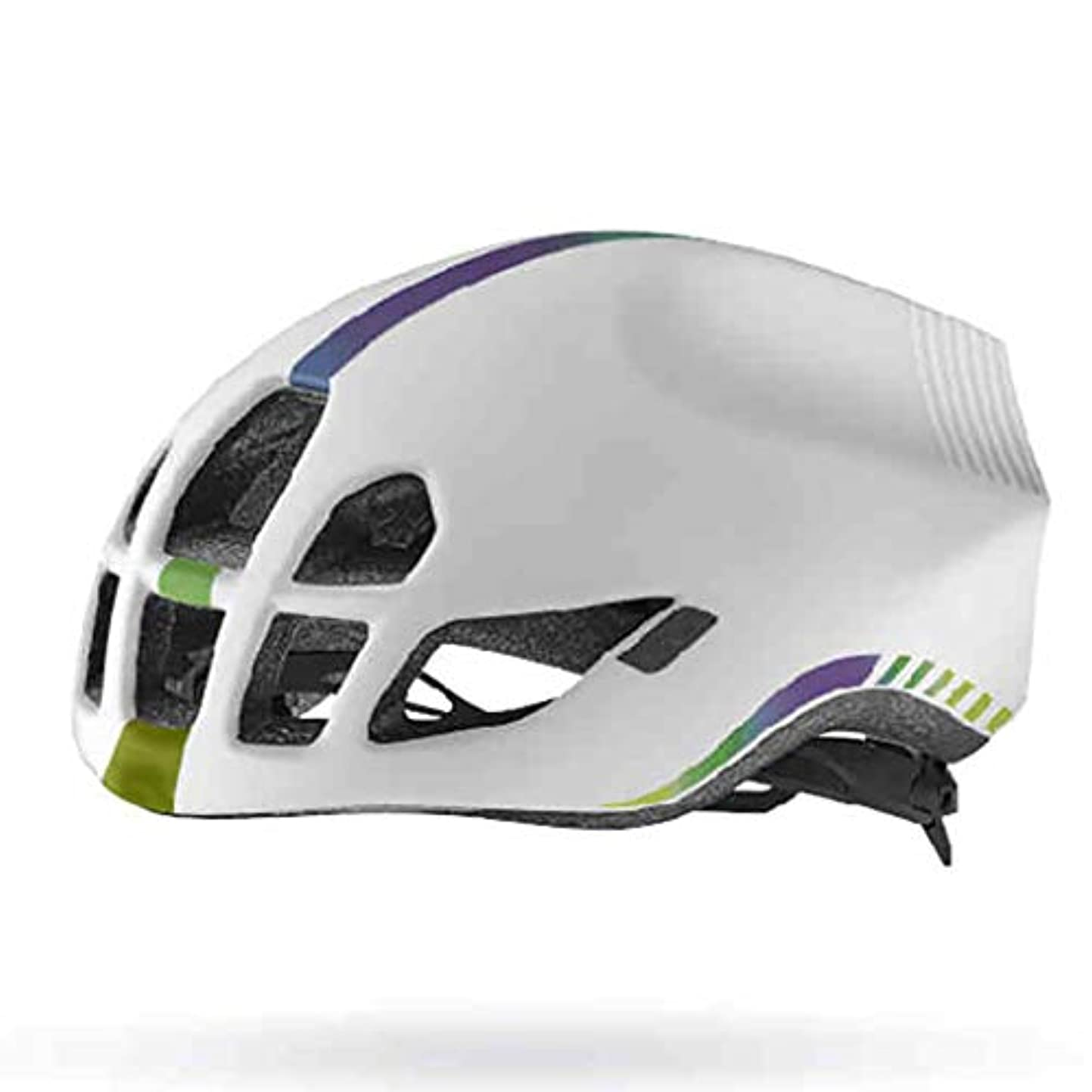 足首横に次マウンテンバイクヘルメット、サイクルヘルメット、レディーススポーツ安全用ヘルメット (色 : 白, サイズ さいず : L l)