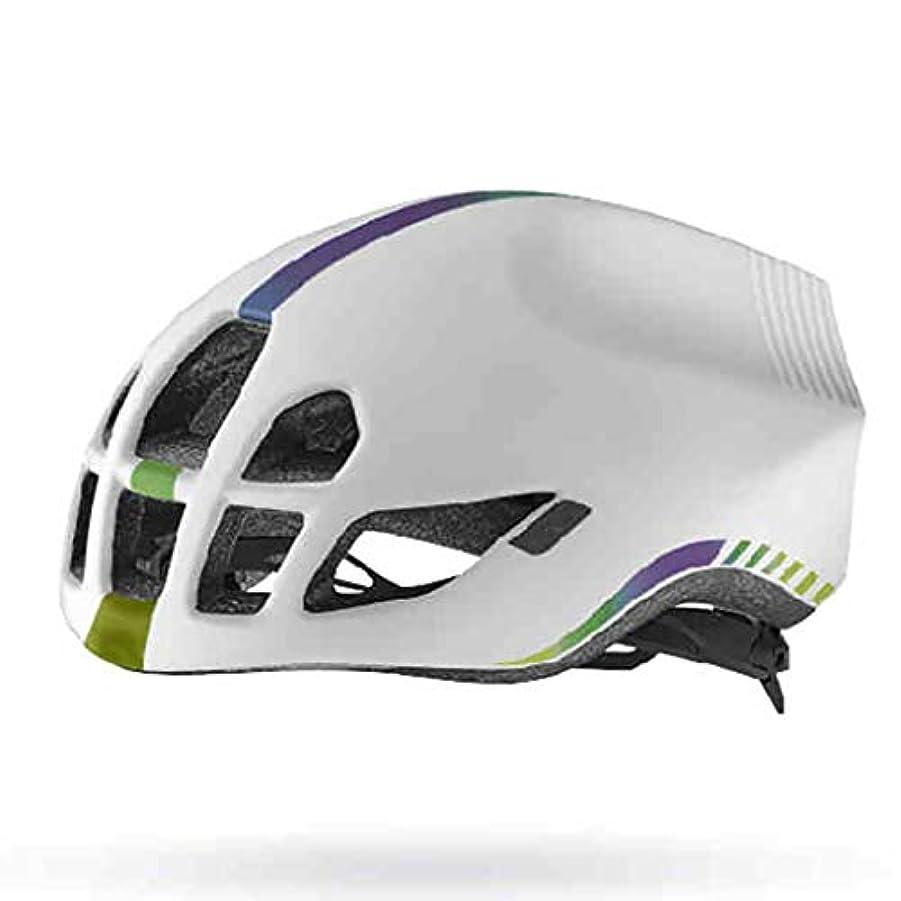 十年アクション眉マウンテンバイクヘルメット、サイクルヘルメット、レディーススポーツ安全用ヘルメット (色 : 白, サイズ さいず : L l)