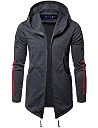 Sodossny-JP メンズヒップスター腰ホップファッションフーディージャケットジップアップスウェットシャツコートアウト
