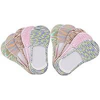 10 Pair Women's Cotton No Show Liner Summer Socks