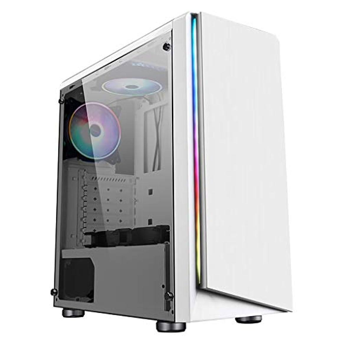 抜本的な方向乗ってXZ15 ミッドタワーゲーミングコンピューターケース、ATX、M-ATX、ITX、液体冷却のサポート、8つの空冷システム、サイドウィンドウパネル (Color : White)