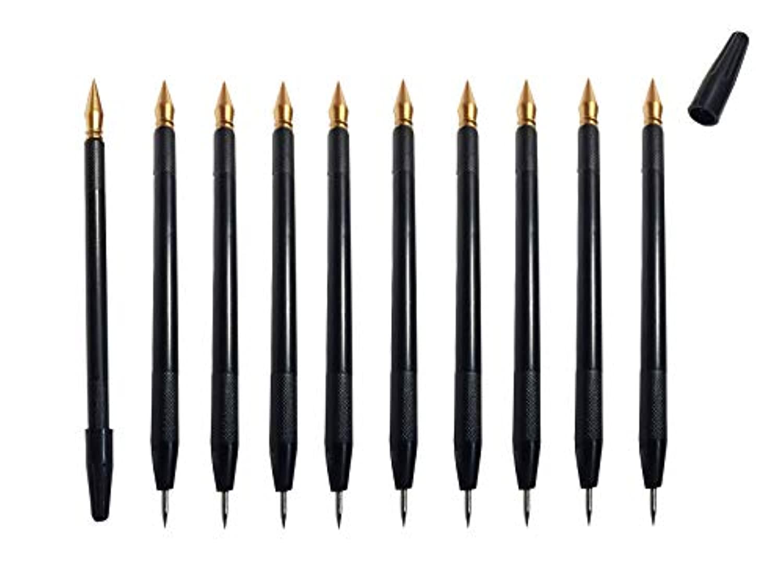 KiloNext スクラッチアート 極細 ペン 機能付き スクラッチペン 10本 セット