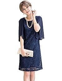 a57487dfbd9eb Amazon.co.jp  ネイビー - パーティードレス   ワンピース・ドレス  服 ...