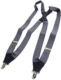 QUINTETTO ショルダー サスペンダー 30mmボンド 日本製 メンズ フォーマル 吊りバンド ズボン吊り ガンホルスター 03-0400 (GREY(グレー))