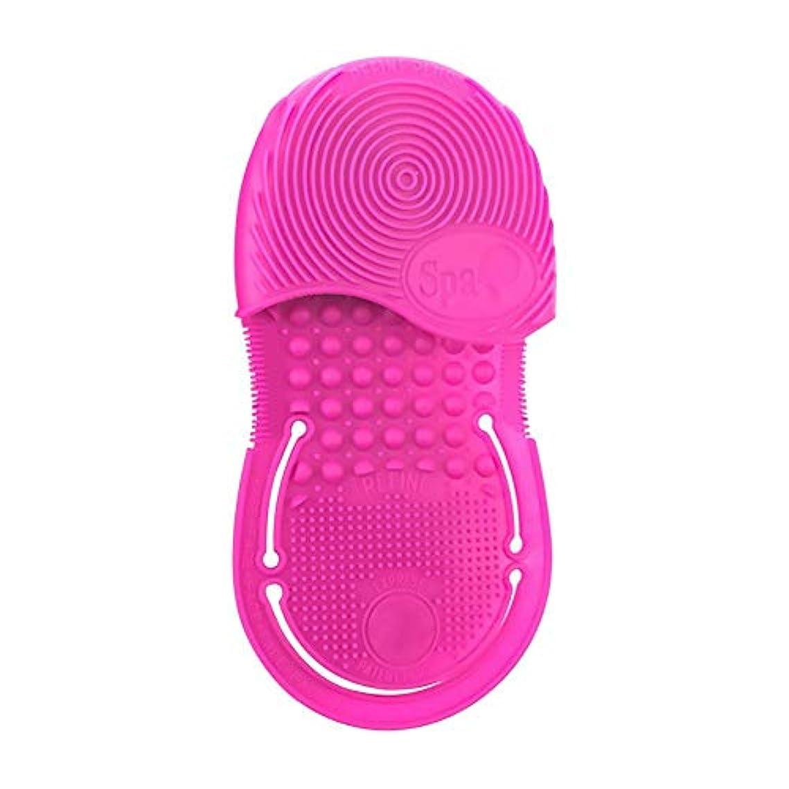 能力走る茎掃除用メイクアップ洗浄ブラシ、シリカ手袋スクラバーボード化粧品クリーンツール