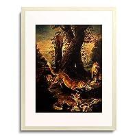 Oudry, Jean Baptiste,1696-1755 「Fuchse mit ihrer Beute.」 額装アート作品