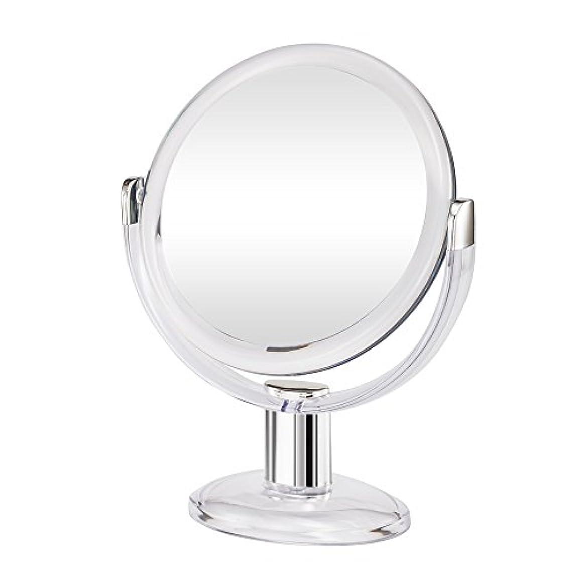 原油接ぎ木縮約Gotofine両面拡大鏡、360度回転1倍と10倍倍率 - クリアと透明