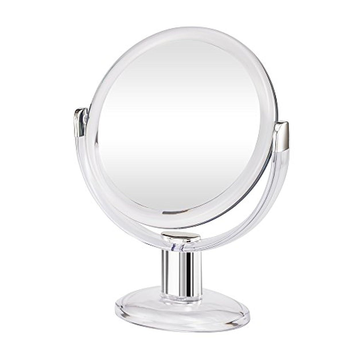 原因お嬢食用Gotofine両面拡大鏡、360度回転1倍と10倍倍率 - クリアと透明
