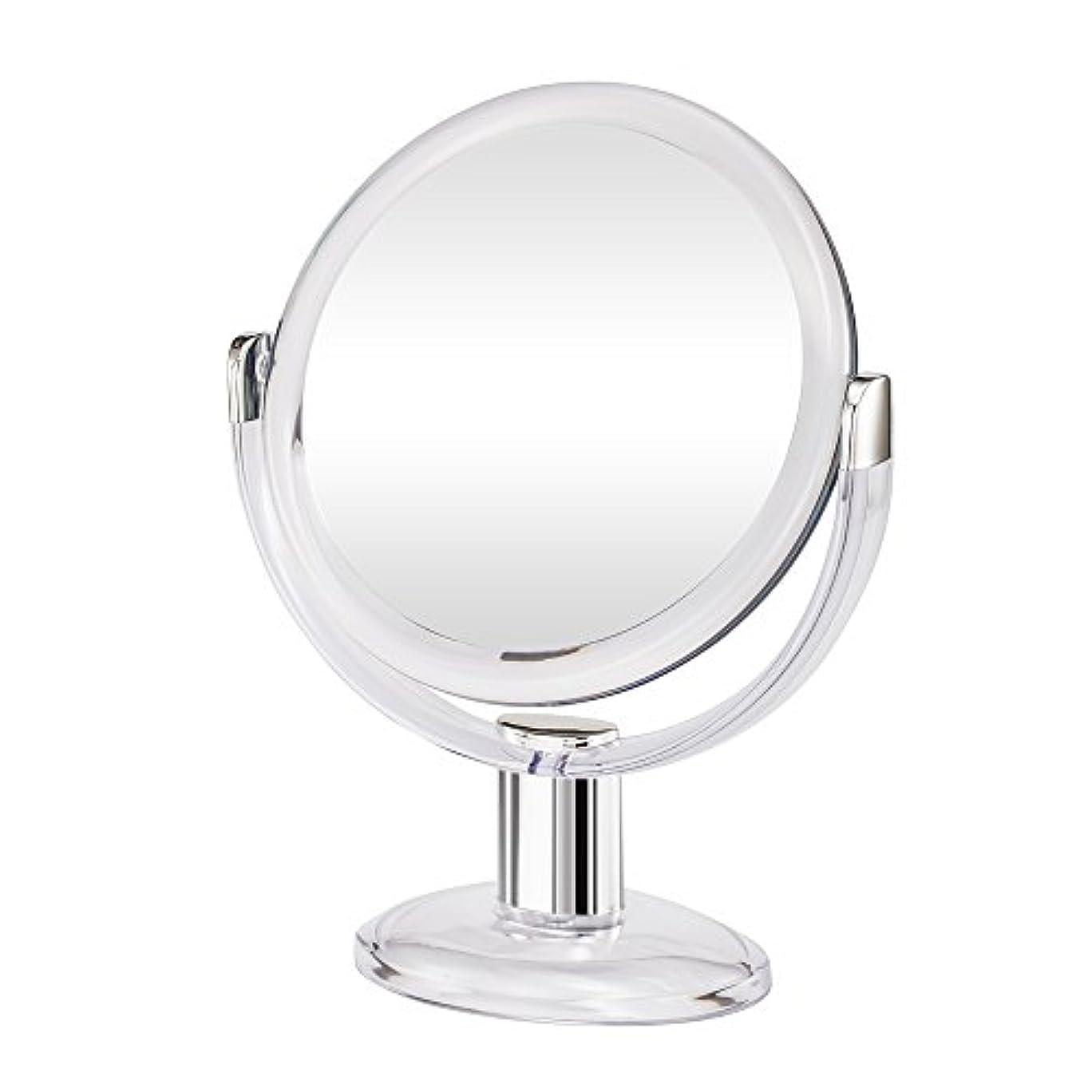 切るガラスに同意するGotofine両面拡大鏡、360度回転1倍と10倍倍率 - クリアと透明