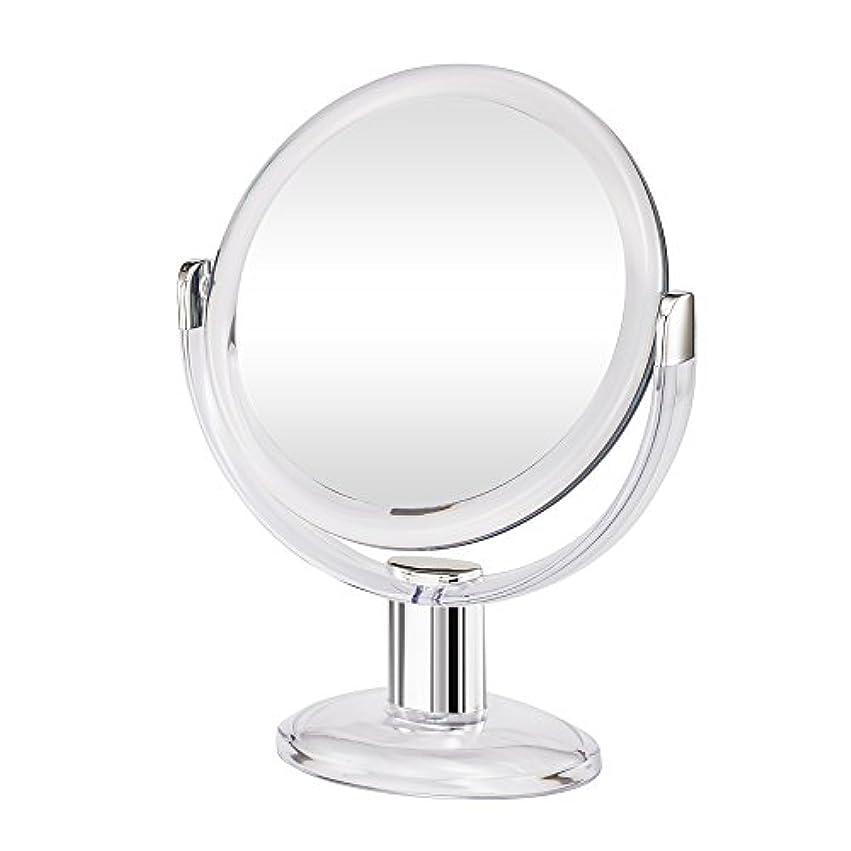 汗予報きゅうりGotofine両面拡大鏡、360度回転1倍と10倍倍率 - クリアと透明