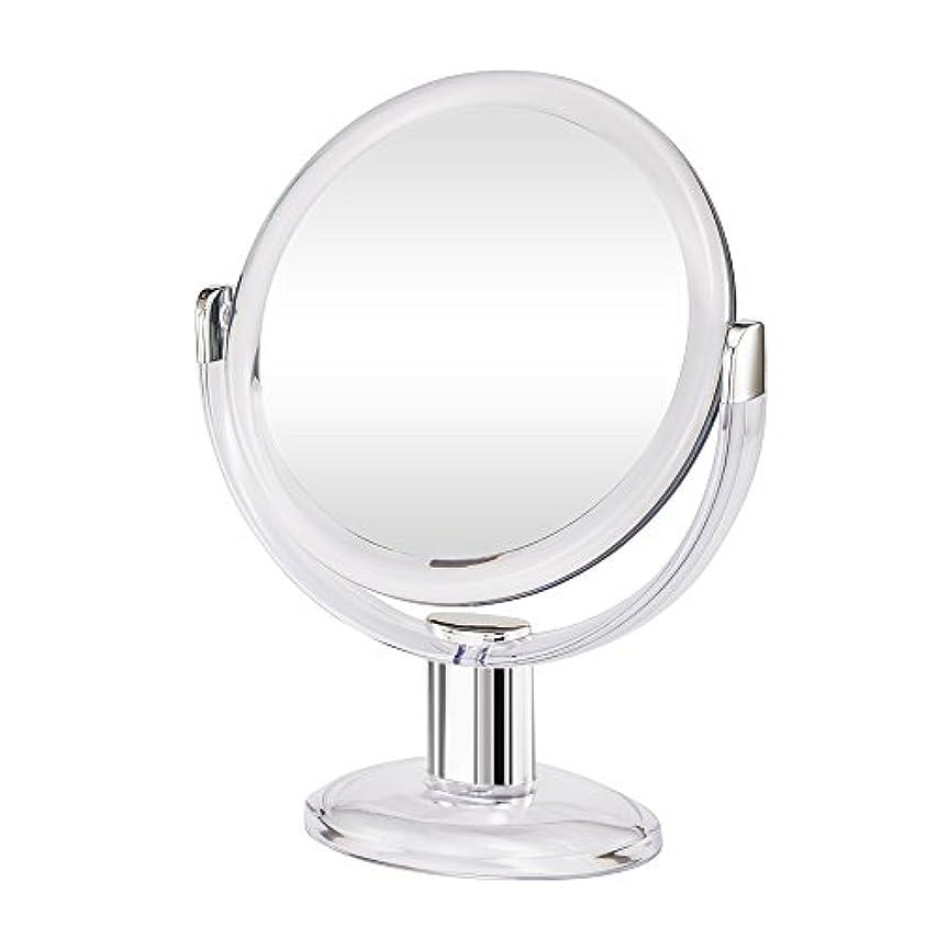 負担言語鼓舞するGotofine両面拡大鏡、360度回転1倍と10倍倍率 - クリアと透明