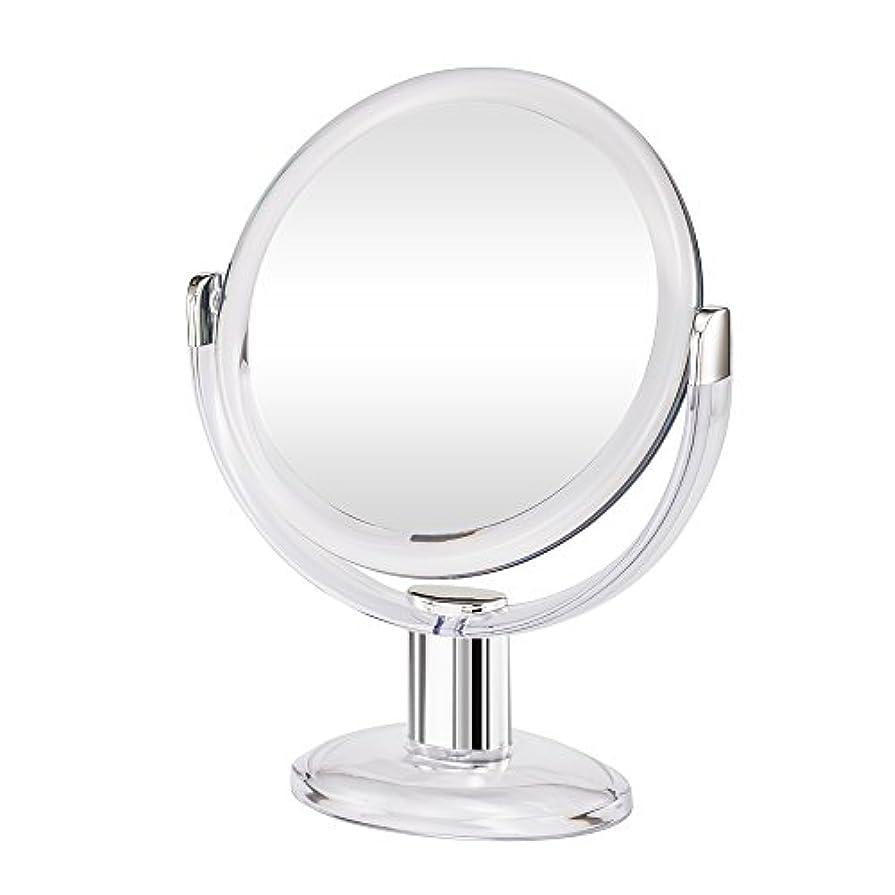 ケーブル核非難するGotofine両面拡大鏡、360度回転1倍と10倍倍率 - クリアと透明