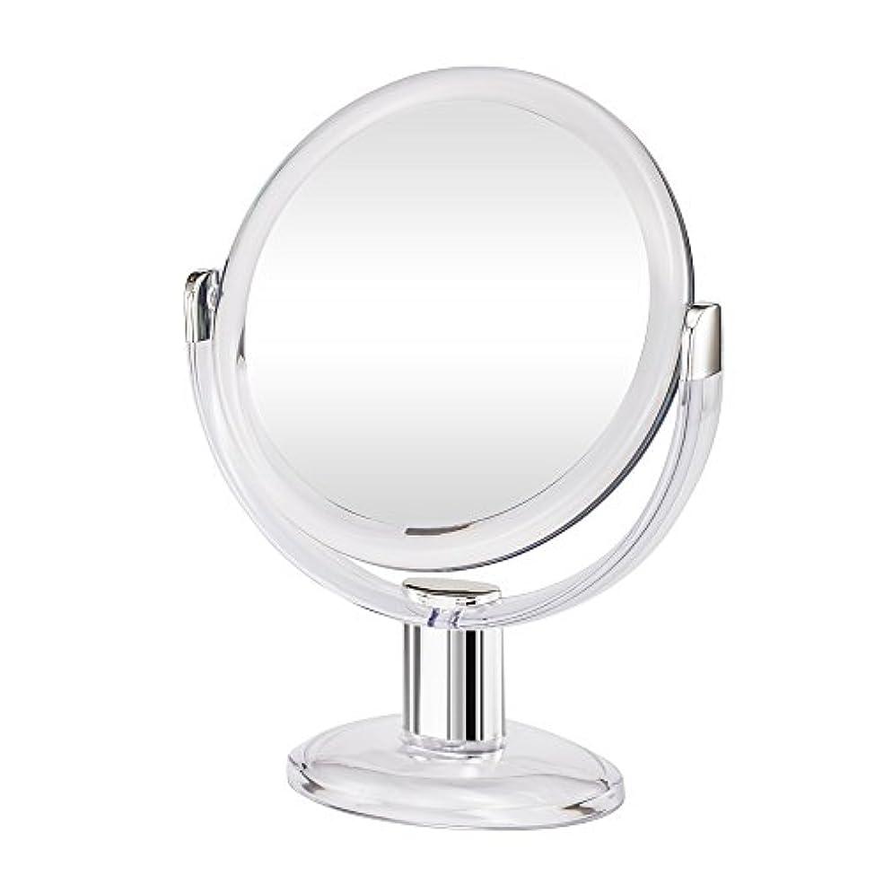 論理的恐怖症ホイストGotofine両面拡大鏡、360度回転1倍と10倍倍率 - クリアと透明