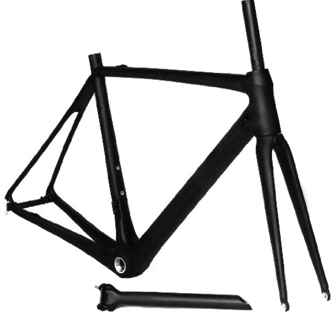 パパスティーブンソン悪魔フルカーボン UDマット 700c ロードバイク 自転車 BSAフレーム フォーク シートポスト 54cm