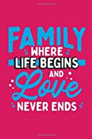 Family Where Life Begins and Love Never Ends: Daily Gratitude Journal and Diary – Gratitude Thought Notebook