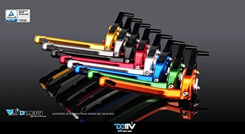 Dimotiv DMV 可倒式アジャスタブルビレットレバーセット CB500XCBR500 R/F CRF450R CB400 SUPER FOUR(SF) CBR400R CB400 F/X VTR VTR-F CBR250R CB223S FTR 223 CBR125R MSX125/GROM オレンジ/シルバー CLE2-AC008AB021O