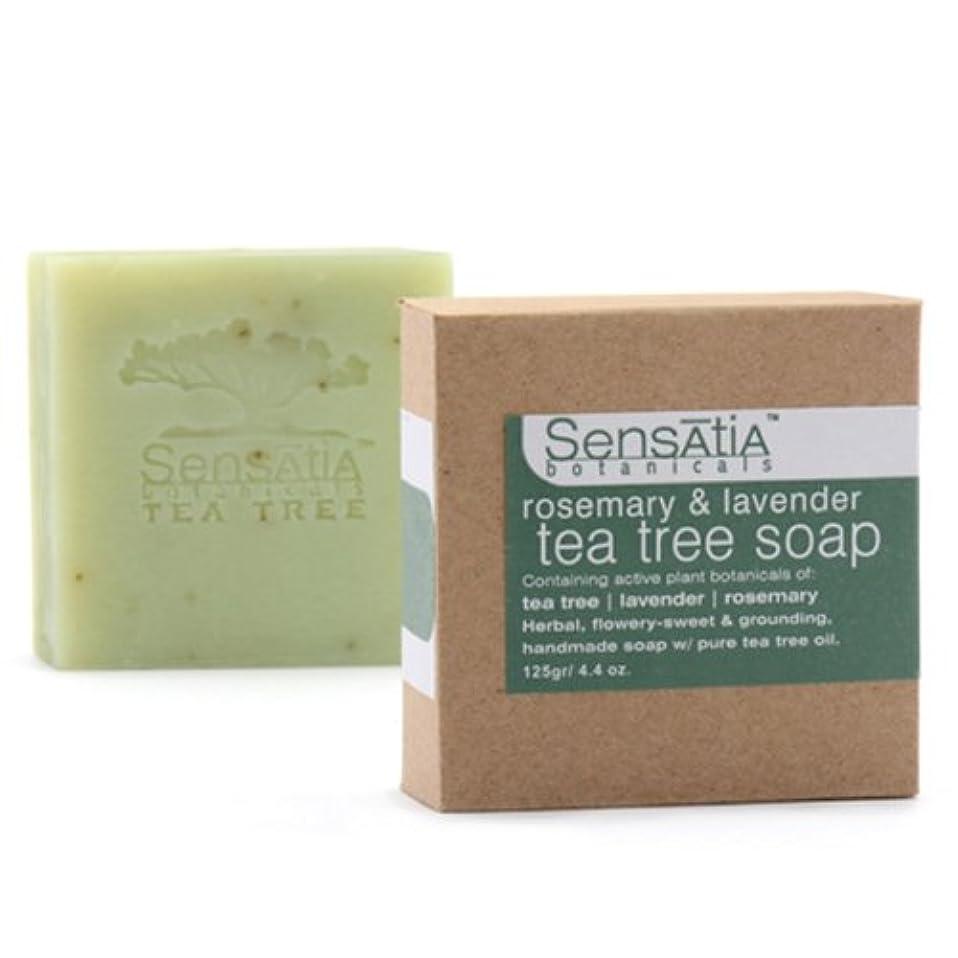 酸化する特性遵守するSensatia(センセイシャ) ティーツリーソープ ローズマリー&ラベンダー 125g