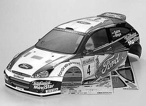 R/C SPARE PARTS SP-958 フォードフォーカスRS WRC 02 スペアボディ