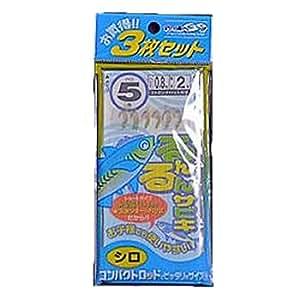 マルシン漁具 るんるんサビキ 白 (サビキ釣り 3枚セット) 3号
