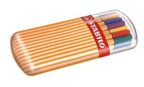 STABILO 水性ペン ポイント88 ゼブラ 20色 8820-02