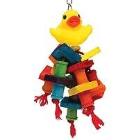 Happy Beaks Rubber Duck Monster Bird Toy [並行輸入品]