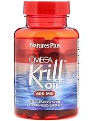 Nature's Plus オメガ クリルオイル 600 mg 60 液体カプセル 【アメリカ直送】