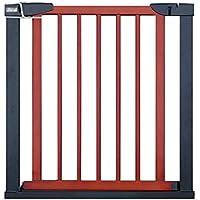 子供の安全性遊び場難燃性扉金属製の火災の扉の部屋分周器木製のペット犬の安全門階段の柵フェンス自動閉止75-138cm、高さ74.5cm (サイズ さいず : 124-131cm)