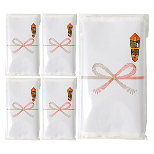 TRANPARAN のし付き 今治タオル Luxe リュクス ハンドタオル (ホワイト) 5枚セット 日本製 即納 (名刺ポケット付き袋)