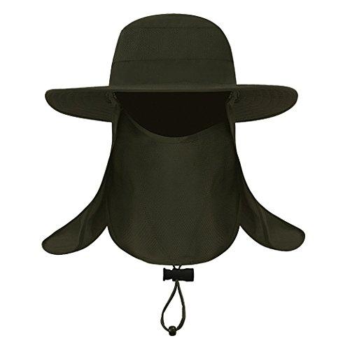 帽子 ぼうし フェイスカバー アウアドア 虫除け 蚊対策 U...