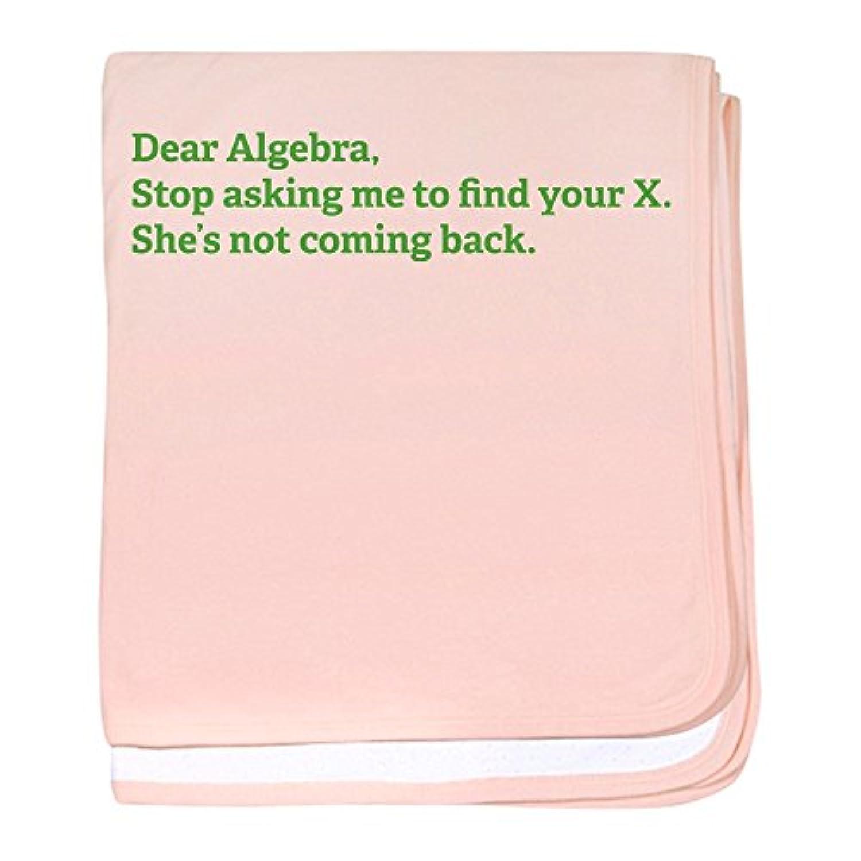 CafePress – Dear Algebra – スーパーソフトベビー毛布、新生児おくるみ ピンク 06483173576832E