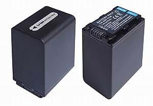 【2個セット・残量表示付】 ソニー NP-FH100 互換 バッテリー の 2個セット Sony DCR-DVD308 DCR-DVD508 等対応 等対応