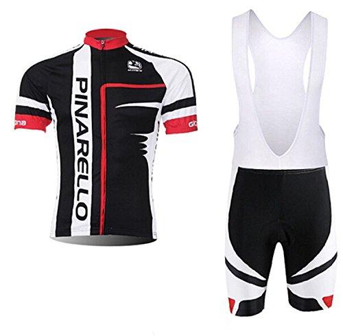 Padmx 男性用 高弾性 吸汗速乾 通気がいい 半袖 サイクルジャージ 上下セット サイクルウェア サイクリングウェア スポーツウェア サイズ選択可 cd845 S/M/L/XL/2XL/3XL