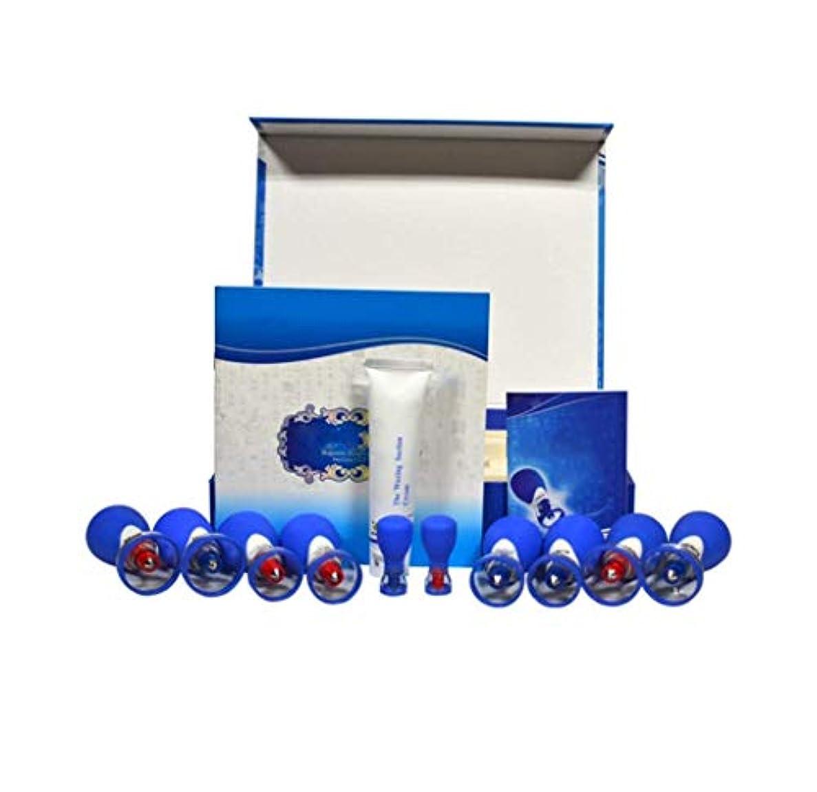昇るグリーンバック同行磁気カッピング、10カップ磁気指圧吸引カッピングセット、マッサージ筋肉関節痛の軽減