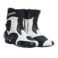 Baosity 全18種類 メンズ オートバイ靴 バイクブーツ 1ペア ファッション 格好良い - ホワイト , 43