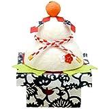 迎春?正月飾り『型染め和紙 鏡餅 小』 手作り 和紙細工 招福 飾り 置物 縁起物 和雑貨 なごみ リュウコドウ